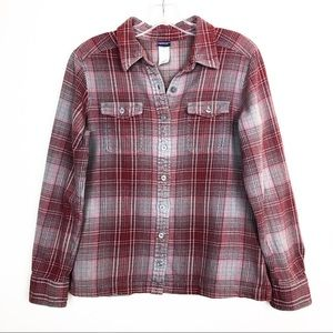 Patagonia Long Sleeve Button Down Flannel Red
